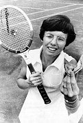 Tennis Player Prints - Billie Jean King, Houston, Texas Print by Everett