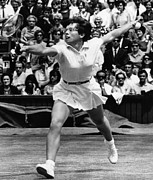 Tennis Player Metal Prints - Billie Jean King, Wimbledon, England Metal Print by Everett