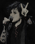 Green Day Art - Billie Joe Armstrong by Valerie Burke