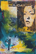 Billie Holiday Mixed Media Originals - Billie by Robin Lee