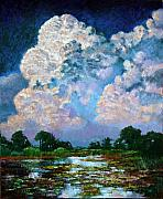 Lily Pond Originals - Billowing Clouds by John Lautermilch