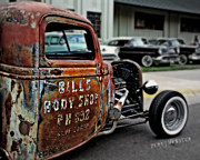Rusted Cars Photos - Bills Rat Rod by Perry Webster
