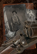 Old West Prints - Billy and Pat Print by Robert Hudnall