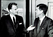 Featured Art - Billy Graham Greets President John F by Everett