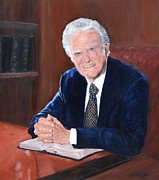Evangelical Paintings - Billy Graham by Phyllis Barrett