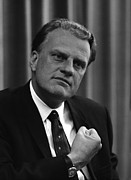 Gestures Posters - Billy Graham Was A Prominent Christian Poster by Everett