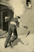 Revolvers Photos - Billy The Kid Killing Robert Ollinger by Everett
