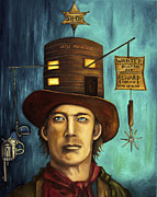 Outlaw Paintings - Billy The Kid by Leah Saulnier The Painting Maniac
