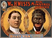 Blackface Prints - Billy Van, The Monologue Comedian Print by Everett
