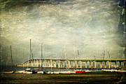 Ocean Springs Yacht Club Prints - Biloxi Bay Bridge Print by Joan McCool