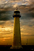 Scott Pellegrin Posters - Biloxi Lighthouse Poster by Scott Pellegrin