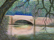 Asheville Painting Framed Prints - Biltmore Bridge Framed Print by Erika Morrison
