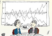 News Mixed Media - Binary Options Charts No Cartoon by OptionsClick BlogArt
