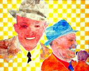 Bing Crosby And Frank Sinatra 1 Print by Richard W Linford