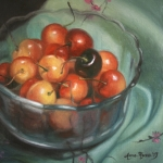 Cherries Paintings - Bing Different by Anna Bain