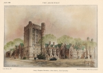 Victorian Architecture Prints - Bingham Dormitory. Yale University. New Haven Connecticut 1926 Print by Walter Chambers