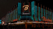 Fremont Street Framed Prints - Binions Vegas Framed Print by David Lee Thompson