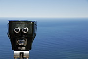 Scrutiny Photos - Binoculars facing ocean by Sami Sarkis