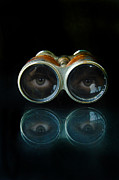 Binoculars Photos - Binoculars with Eyes Looking at You by Jill Battaglia