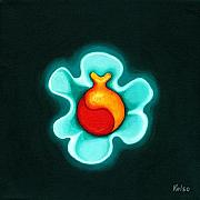 Glow Painting Originals - Bio-pod by Bonnie Kelso