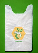 Shopping Bags Prints - Biodegradable Plastic Bags Print by Sheila Terry