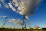 Electric Pylon Framed Prints - Bioenergy Framed Print by Chris Knapton