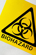 Virology Photo Prints - Biohazard Symbol Print by Tim Vernon, Nhs Trust