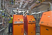 Machine Photos - Biomass Boiler System by Chris Knapton