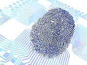 Printed Photo Prints - Biometric Fingerprint Scan, Artwork Print by Pasieka