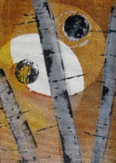 Silver Moonlight Paintings - Birch - Gold 4 by Jacqueline Athmann