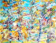 All - Birch Abstract  by Mary Sedici