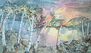 Fantasy Landscape Mixed Media - Birch Filigree by Lynn ACourt