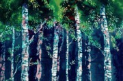 Trees Tapestries - Textiles - Birch Forest by Carolyn Doe