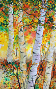 Birch Prints - Birch Party Print by Dee Carpenter