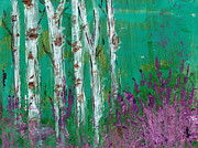 Kristen Fagan - Birch Trees in a...