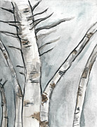 Kristen Fagan - Birch Trees in Winter
