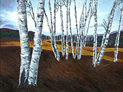 Wendy Butcher Art - Birch Trees by Wendy Butcher