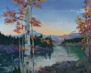 David Carter - Birches by the River