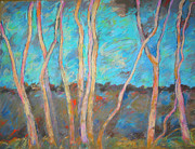 Karen Lundquist Posters - Birches Poster by Karen Lundquist