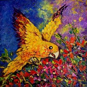 Raji Chacko - Bird And Flowers