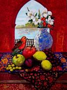 Bird And Stil Life Print by Marilene Sawaf