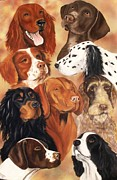 Setter Pointer Paintings - Bird Dogs by Debbie LaFrance
