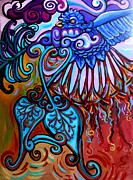 Stretched Canvas Metal Prints - Bird Heart II Metal Print by Genevieve Esson