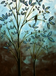 Acrylics Posters - Bird House by MADART Poster by Megan Duncanson