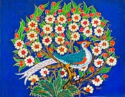 Turkish Paintings - Bird in the Bush by Pamir Thompson