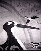 Bourke White Prints - Bird Mural And Graffiti Print by Doug  Duffey