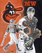Sports Art Paintings - Bird of a Different Feather by Jason Yoder