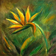 Gina Gray Paintings - Bird of Paradise 88 by Gina De Gorna
