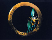 Flora Sculpture Originals - Bird of Paradise Disc by Glen Cowan
