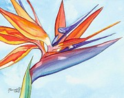 Tropical Flower Painting Posters - Bird of Paradise III Poster by Marionette Taboniar